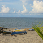 calm waters at the beach in La Ceiba