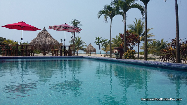 Pool, Bar, Restaurant Beachfront Resort La Ceiba